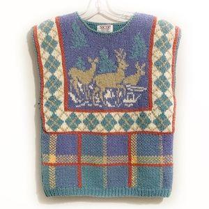 VINTAGE SKYR Shetland Wool Sleeveless Sweater
